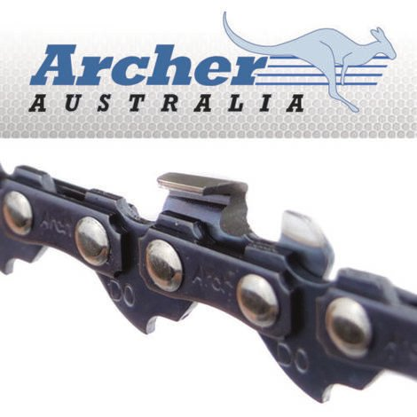 Archer Chainsaw Saw Chain 3/8LP .050 1.3mm 56 DL Drive Links, See Description For Applications
