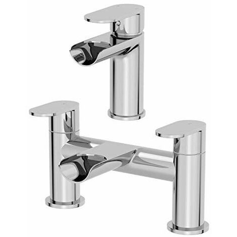 Architeckt Edsberg Basin Mixer Waterfall Tap & Bath Mixer Tap Set