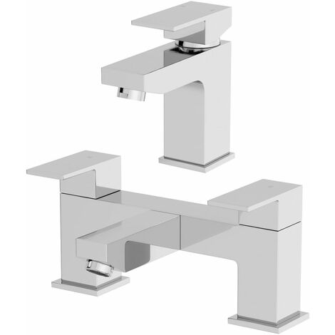 Architeckt Ibbardo Basin Mixer Tap and Bath Mixer Tap Set