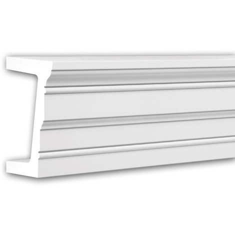 Architrave 126003 Profhome Door surround Decorative Moulding contemporary design white 2 m