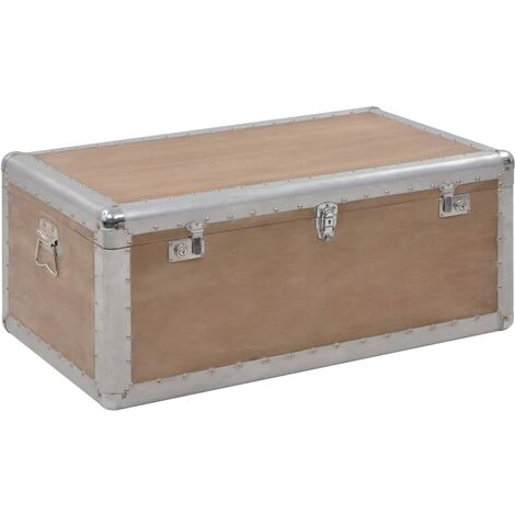 Archuleta Solid Fir Wood Storage Box by Bloomsbury Market - Brown