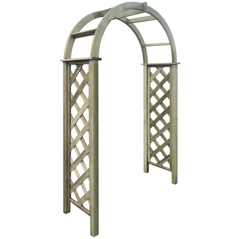 Arco de celosía de madera de pino verde impregnada