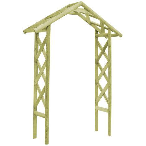 Arco de jardín 135x45x232 cm madera pino impregnada verde
