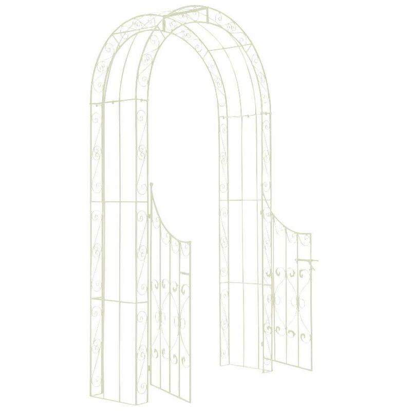 CLP - Arco de Jardín con Puerta Sina Antiguo/Crema