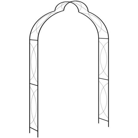 Arco de jardin hierro negro 150x34x240 cm