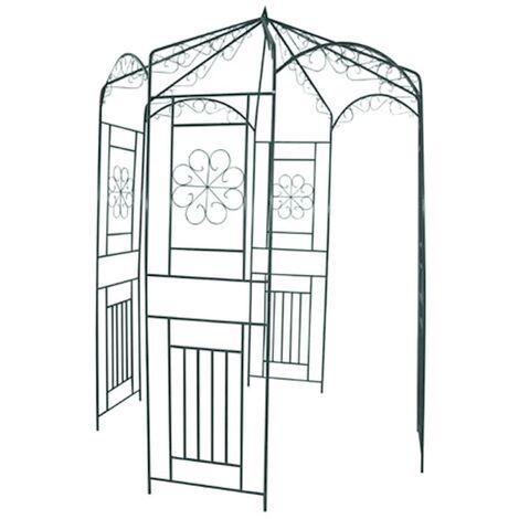 Arco de jardin para rosales, 250 cm - Negro