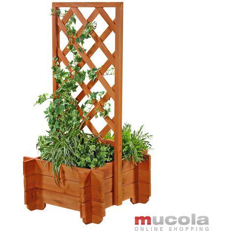 Arco de rosas jardinera rejilla enrejado arco de jardín columna de rosas soporte para plantas de madera macetero maceta arriate