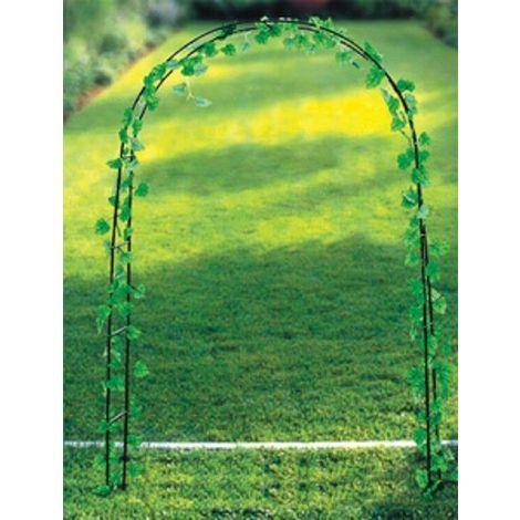 Arco decorativo da giardino in metallo per fiori e for Fiori rampicanti da giardino