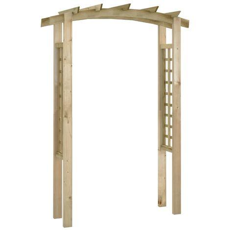 Arco enrejado de jardín madera 150x50x220 cm - Marrón