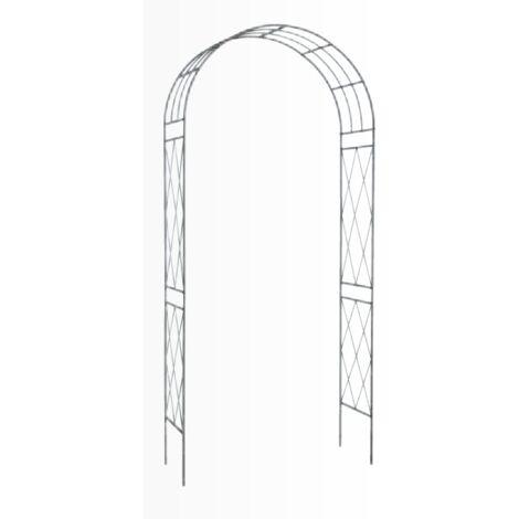 Arco Jardín Decorativo Acero Antracita 36 x 110 x H 225 cm