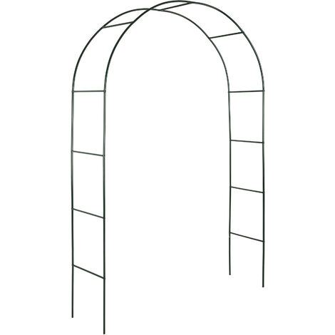 """main image of """"Arco para enredaderas aprox. 240cm - arco para flores estable, arco de jardín de acero elegante para plantas, soporte para planta trepadora - verde"""""""