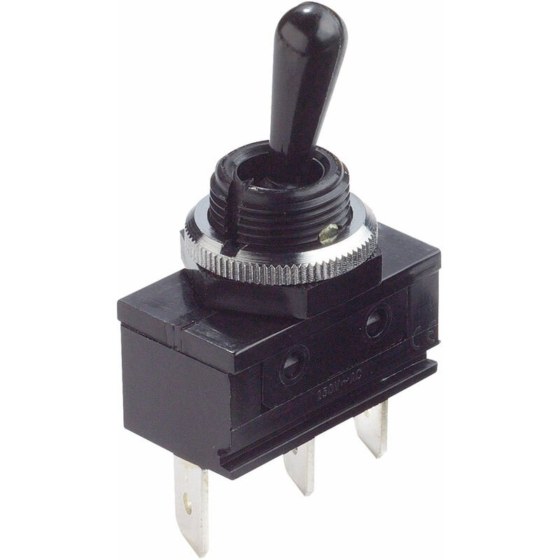 Image of C1720ROAAE 16A Miniature Toggle Switch SPDT On-Off-On 250V AC - Arcolectric