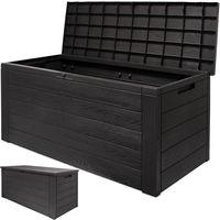 Arcón de almacenamiento aspecto de madera con tapa abatible - 120x45x60 cm