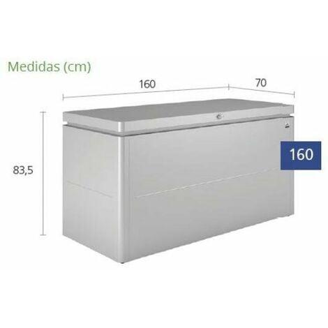 Arcon Metalico Biohort Lounge Box 160 Cofre- Baul De Jardin