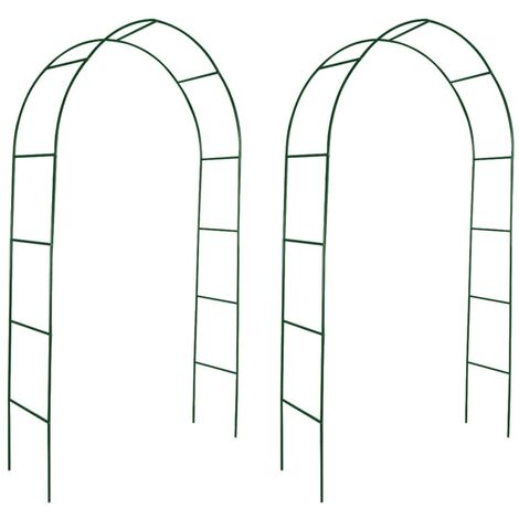 Arcos de jardín 2 unidades para plantas trepadoras - Verde