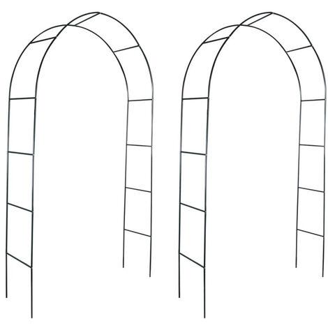 Arcos de jardin para plantas trepadoras 2 unidades