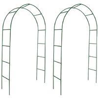 Arcos de jardín para plantas trepadoras 2 unidades