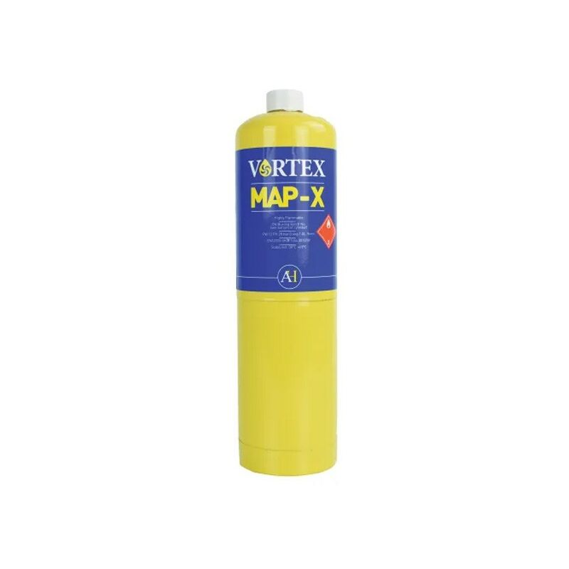 Image of Arctic Hayes VORTEX MAP-X Mix PRO Brazing Gas YELLOW 450g CGA600 Canister VG1