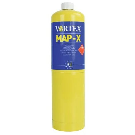 Arctic Hayes VORTEX MAP-X Mix PRO Brazing Gas YELLOW 450g CGA600 Canister VG1