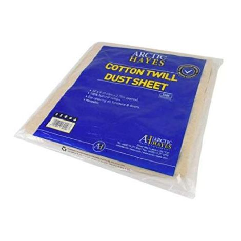ARCTIC Heavy Dutty Dust Sheet 12ft x 9ft - 100% Reusable Natural Cotton - Dustsheet