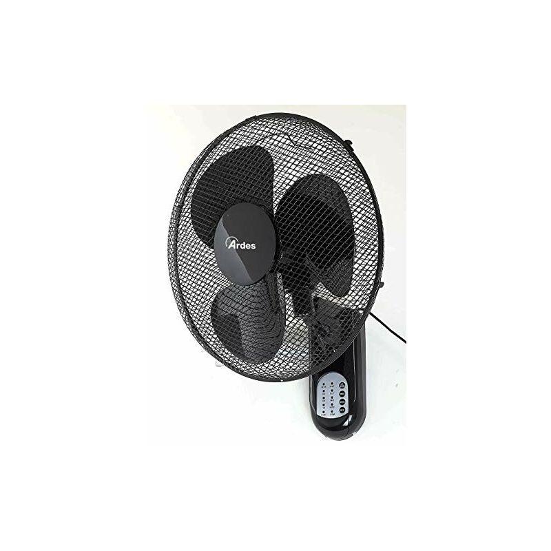 Ardes AR5W40R PARETO COOL RC Ventilatore Oscillante a Parete Pala 40 Cm, con Telecomando, 3 Livelli di Ve