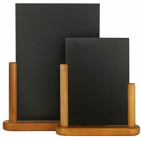 Ardoise de table Elegant - Teck - Large (28x32 cm)