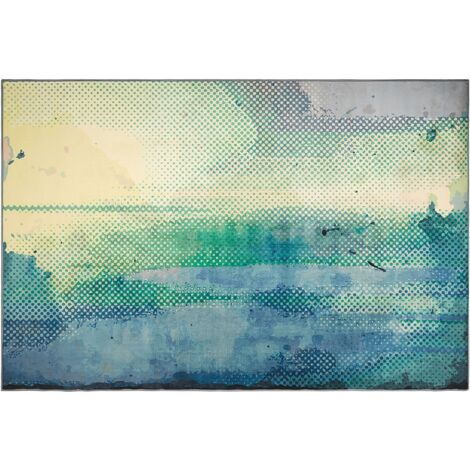 Area Rug 140 x 200 cm Blue and Green SUSUZ