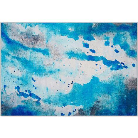 Area Rug 140 x 200 cm Blue and Grey BOZAT