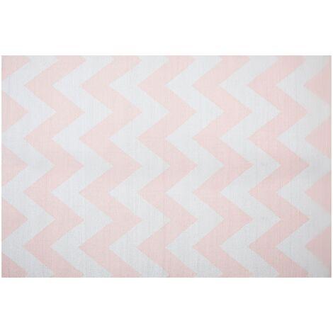 Area Rug 160 x 230 cm Pink and White KONARLI