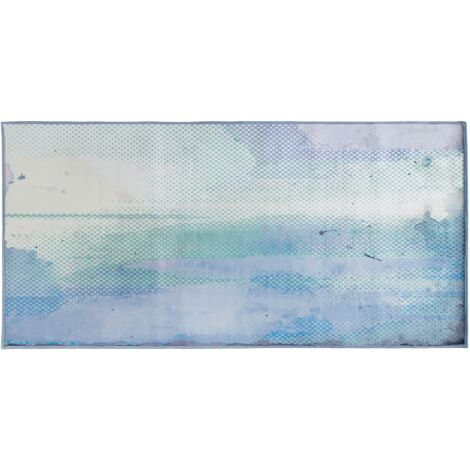Area Rug 80 x 150 cm Blue and Green SUSUZ
