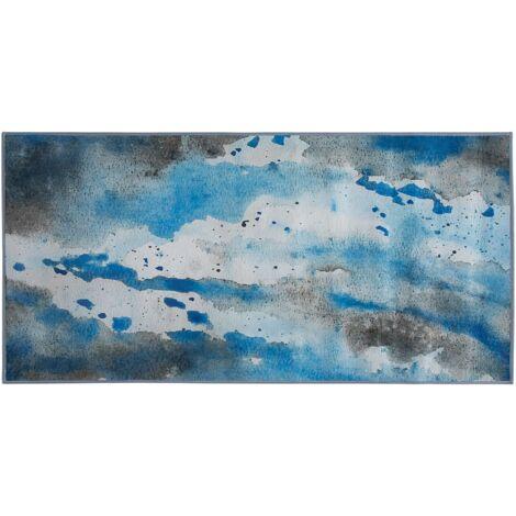 Area Rug 80 x 150 cm Blue and Grey BOZAT