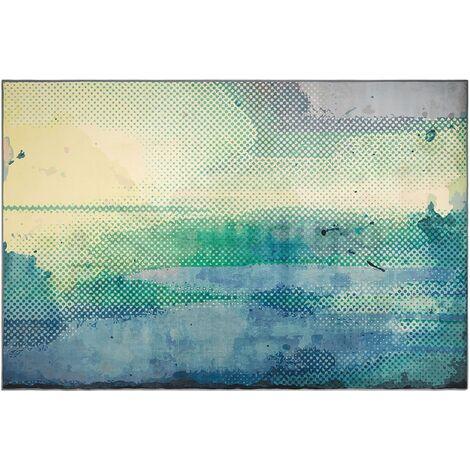 Area Rug Abstract Watercolour Paint Floor Mat 160 x 230 cm Multicolour Susuz