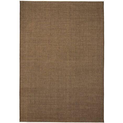 Area Rug Sisal Look Indoor/Outdoor 140x200 cm Brown