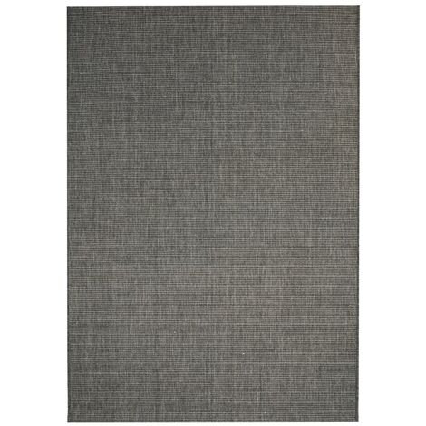Area Rug Sisal Look Indoor/Outdoor 140x200 cm Dark Grey