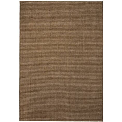 Area Rug Sisal Look Indoor/Outdoor 160x230 cm Brown