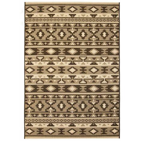 Area Rug Sisal Look Indoor/Outdoor 160x230cm Ethnic Design