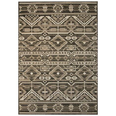 Area Rug Sisal Look Indoor/Outdoor 80x150 cm Geometrical
