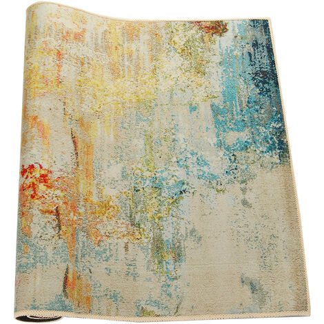 Area Rug Tie-Dyed Floor Carpet Anti-Slip Abstract Mat