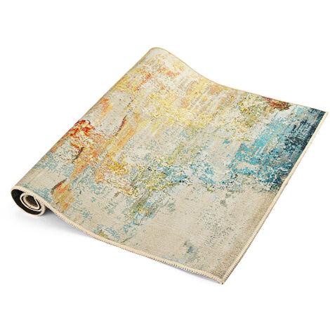 Area Rug Tie-Dyed Floor Carpet Anti-Slip Abstract Mat Bedside Mat Floor Mat Home Decor for Living Room 80x160CM
