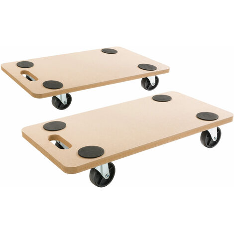 Arebos 2x Trolley Dolly Platform Cart for easy Transport 200kg 441lbs