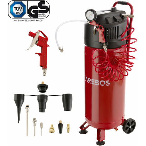 Arebos Air Compressor 50 L Portable 10 Bar with 13-piece Tool Kit