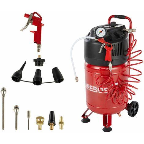 AREBOS Air Compressor Oil Free Compressor 30 L 1500 W 10 Bar 13 Pcs. Equipment - Red