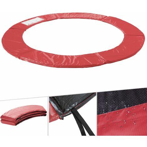 Arebos Almohadillas de seguridad Cojín Trampolín Cama Elastica 183 - 487 cm rojo