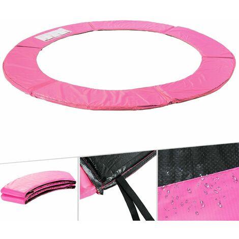 Arebos Almohadillas de seguridad Cojín Trampolín Cama Elastica 183 - 487 cm rosa