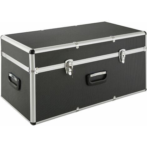 "main image of ""AREBOS Aluminium Box Storage Box Trunk Box Chase Box Lockable 100L - black"""