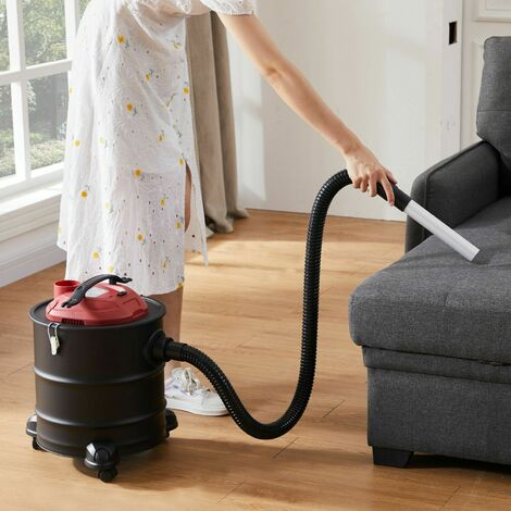 AREBOS Ash Cleaner 20 L 1200 W Vacuum Fireplace Cleaner incl. HEPA Filter - red black