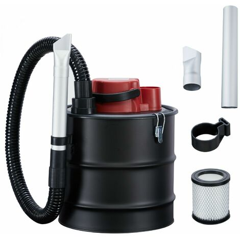 AREBOS Ash Cleaner Eco 15 L 1200 W Fireplace Cleaner incl. HEPA Filter - Red / black