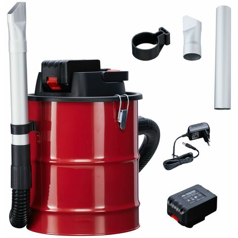 Arebos Ash Cleaner with Battery 12L 140 W Fireplace Cleaner Vacuum Cleaner incl. HEPA Filter - red black