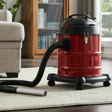 AREBOS Ash Vacuum Cleaner Premium 1200W 20L HEPA Filter - Red / black