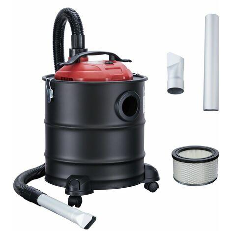 Arebos aspirador 20 l 1200 W cenizas aspiradora incl. filtro HEPA - rojo negro